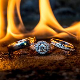 fire by Lukas Gisbert-Mora - Wedding Details ( alliance, wedding, diamond, rings, fire )