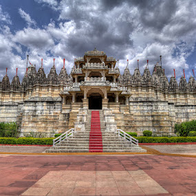 Ranakpur Jain Temple, Rajasthan by Ramakant Sharda - Buildings & Architecture Places of Worship ( clouds, temple, india, worship, ranakpur,  )