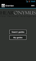 Screenshot of Hearonymus - your audioguide