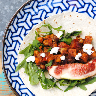Sweet Potato + Chickpea Tacos with Goats Cheese + Figs