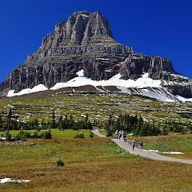 by Don Evjen - Landscapes Mountains & Hills ( forests, mountains, sky, glacier park, montana, snow )