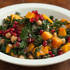 Ginger-Lime Kale with Squash & Chickpeas