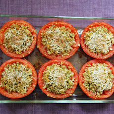 Provençal Tomatoes (Baked Tomatoes Stuffed with Cheese and Breadcrumbs)