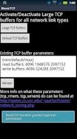 Screenshot of Bionic TCP Buffer Tweak