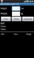 Screenshot of BMI Calculator Japan Free