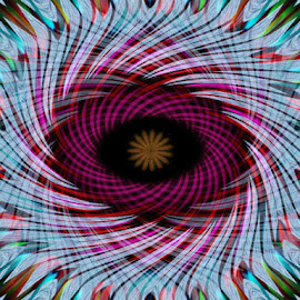 eye of the hurricane by Lina Marano - Illustration Abstract & Patterns