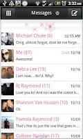 Screenshot of GO SMS - Cherry Blossoms