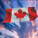 Waving Canadian Flag icon