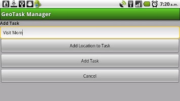Screenshot of GeoTask Manager