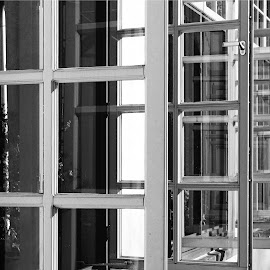 Rear Window by Bernhard Bußmann - Buildings & Architecture Architectural Detail ( muenster, rear window, botanical garden )