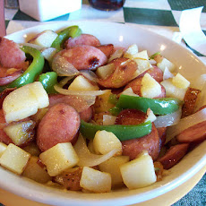 One-Dish Kielbasa, Green Beans & Potatoes