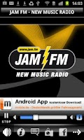 Screenshot of JAM FM New Music Radio
