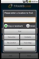 Screenshot of Translink QLD Planner (Old)