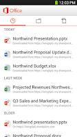 Screenshot of Microsoft Office Mobile