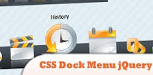 9 dock style menu using css and jquery