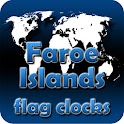 Faroe Islands flag clocks