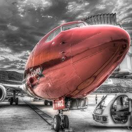 Dubrovnik, Croatia by IP Maesstro - Transportation Airplanes ( airport, hdr, plane, dubrovnik, airplane, croatia, selective color, pwc )