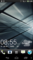 Screenshot of UCCW skin - black sense clock