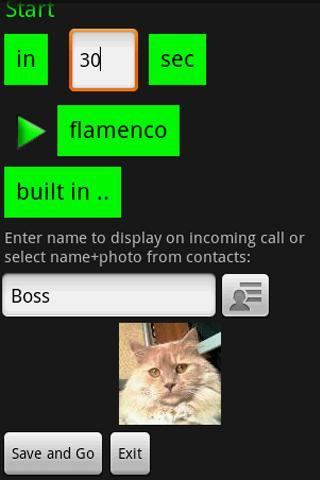GottaGo lite Fake in.. call