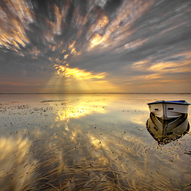 Roll and Scaly Clouds by Yudik Pradnyana - Landscapes Sunsets & Sunrises ( #landscape #sunrise #roll #clouds #boat #bali )