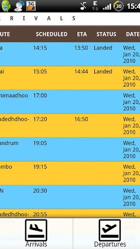 Maldives Flight Schedule