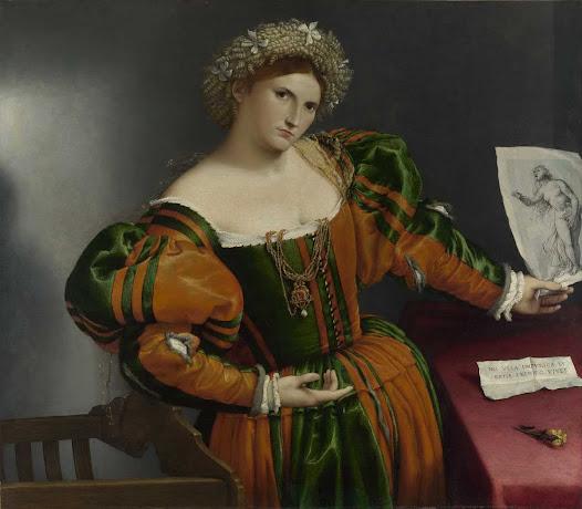 Lotto Lorenzo, Donna ispirata da Lucrezia