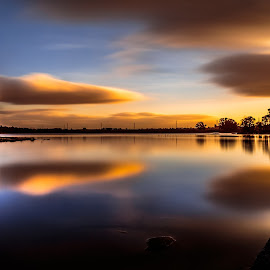 Almost upside down... by Pedro Silva - Landscapes Waterscapes ( #marateca dam, #pedro silva, #portugal, #canon, #sunrise )