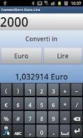 Screenshot of Convertitore Euro-Lira Italia
