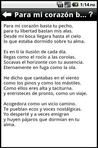 poemas-de-amor for android screenshot