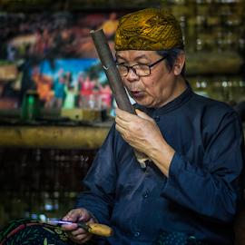 .:: craftsman ::. by Setyawan B. Prasodjo - People Portraits of Men ( angklung, sundanese, bamboo music instrument, culture )