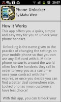 Screenshot of Mobile Phone Unlocker