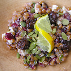 A Salad with Spelt Whole Grains