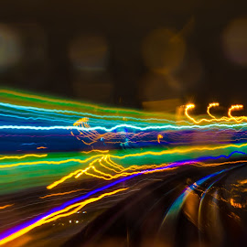 Distance by Cory Bohnenkamp - Abstract Light Painting ( colour, abstract, dots, trails, light )