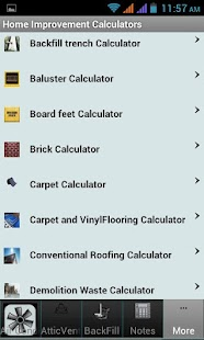 Home Improvement Calculators - screenshot
