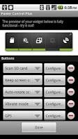 Screenshot of Power Control Plus (widget)