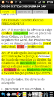 Screenshot of Leis para Concursos Públicos