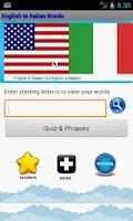 Screenshot of Learn English To Italian Words