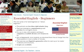 Screenshot of Essential English