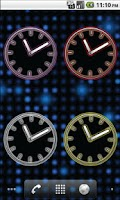 Screenshot of Glowing Neon Clocks - FREE