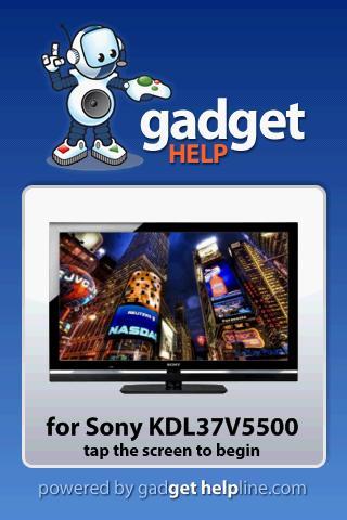 Sony KDL37V5500 - Gadget Help
