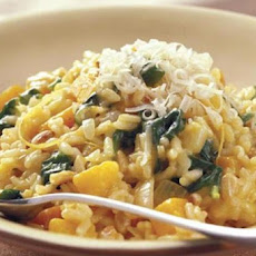 Roasted Pumpkin and Spinach Risotto
