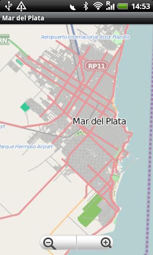 Mar del Plata Street Map