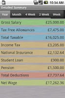 Screenshot of PAYE Tax Calculator Pro