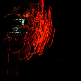 Power of Saruman by Sohil Laad - Abstract Light Painting ( lights, abstract, fine art, long exposure, slow shutter )