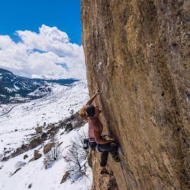 Kevin climbing Addiction 3 by Climb Globe - Sports & Fitness Climbing ( climbing, sport climbing, sinks canyon, rock, lander )