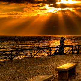 golden embers by Guilherme  Junior - Landscapes Sunsets & Sunrises ( nature, sunset, landscape, man )