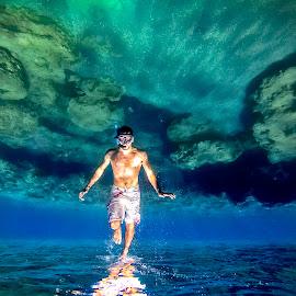 Upside ...down by Ioannis Metaxakis - Sports & Fitness Swimming ( water, underwater, fish, sea, people, upside down )