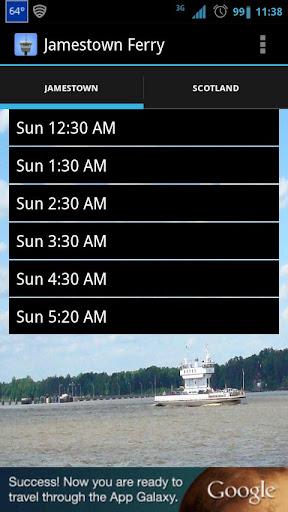 Jamestown Ferry Schedule