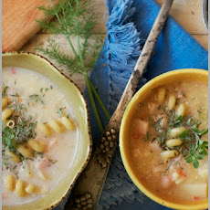 Smoked Turkey and Corn Chowder with Rotini