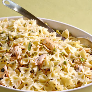 Farfalle with Salmon, Mint, and Peas
